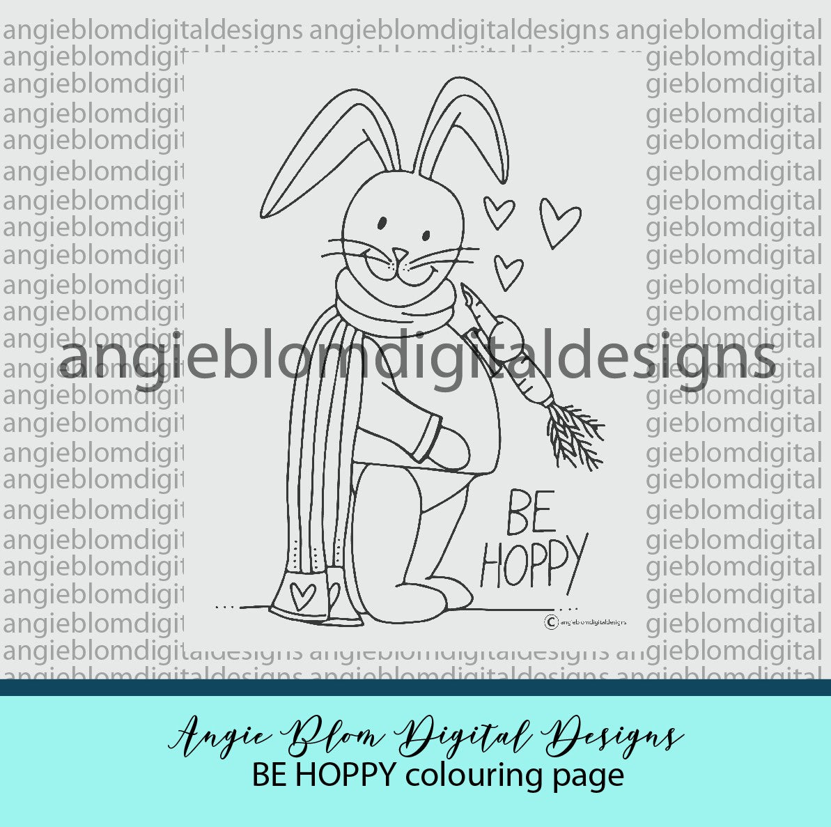 Be Hoppy Colouring page