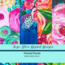 Load image into Gallery viewer, Painted Florals Digital Papers