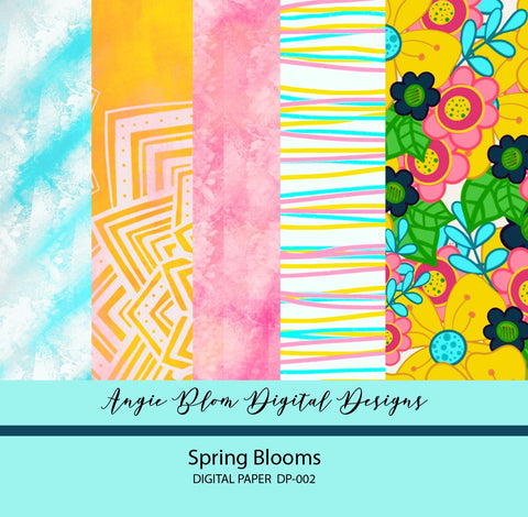 Spring Blooms Digital Papers