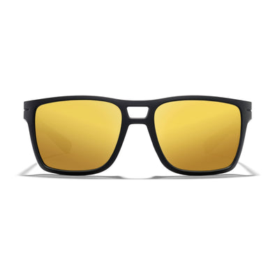 Kona - Matte Black Frame / Gold Mirror Lens 56mm