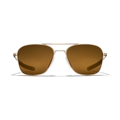 Falcon Titanium - Gold Frame / Bronze (Polarized) Lens 55mm