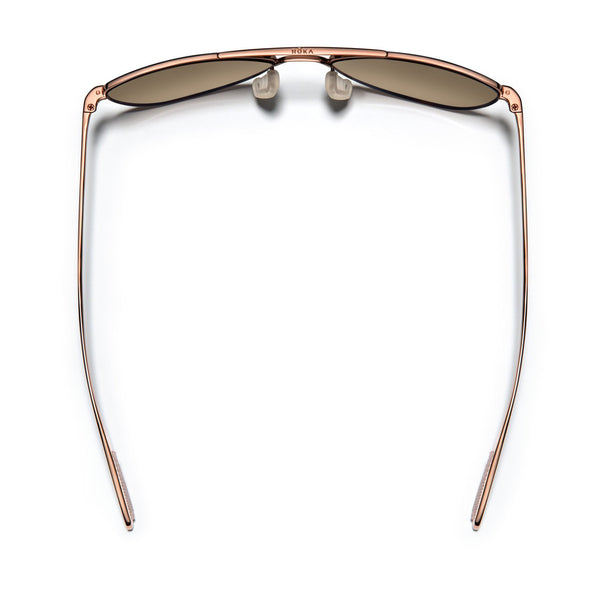 Rio Titanium - Copper Frame / Rose Gold Mirror Lens 54mm