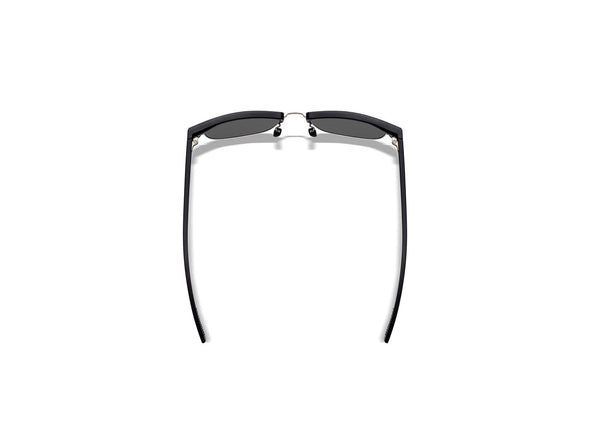 Cambridge Matte Black/Silver Frame - Black Mirror Lens
