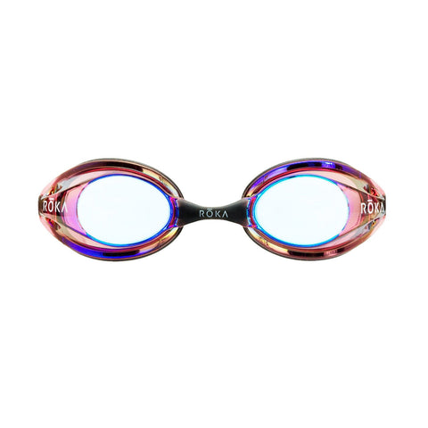 F1 Swim Goggles- Vermillion Mirror
