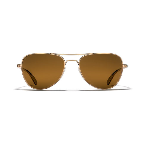 Rio Titanium - Gold Frame / Bronze (Polarized) Lens 54mm