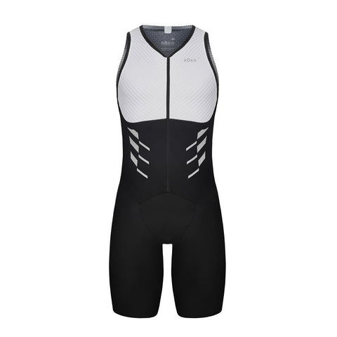 Men's Elite Aero II Sleeveless Tri Suit (Black/White)