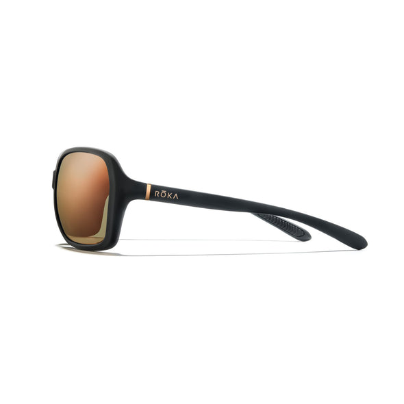 Monaco - Matte Black Frame /  Rose Gold Mirror Lens