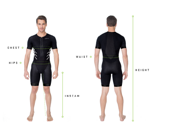 Men's Elite Aero II Short Sleeve Tri Suit (Black)