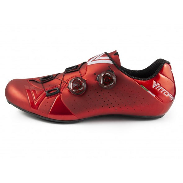 Vittoria Velar Road Cycling Shoes (Red)