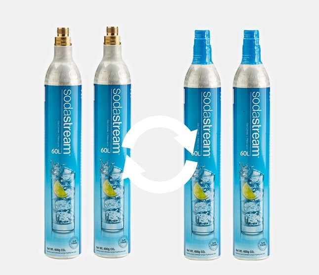 Swap 2 Empty for 2 Full Refill 60 Litre SodaStream C02 Cylinders