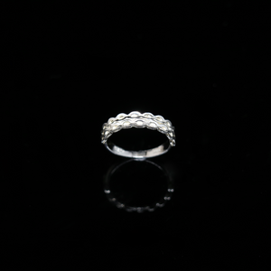 Knitting Ring - Small Stitch - Silver