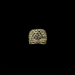 Knitting Ring - Convex Small Stitch - Gold