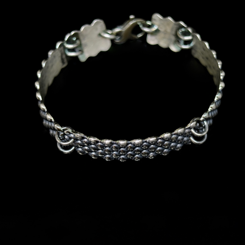 Conches Bracelet - 5 Rows - Silver
