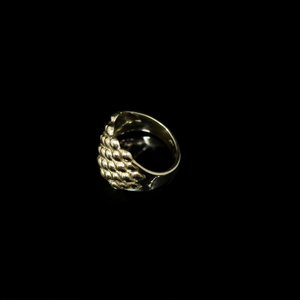 Conches Ring - 7 Rows Concave - Gold