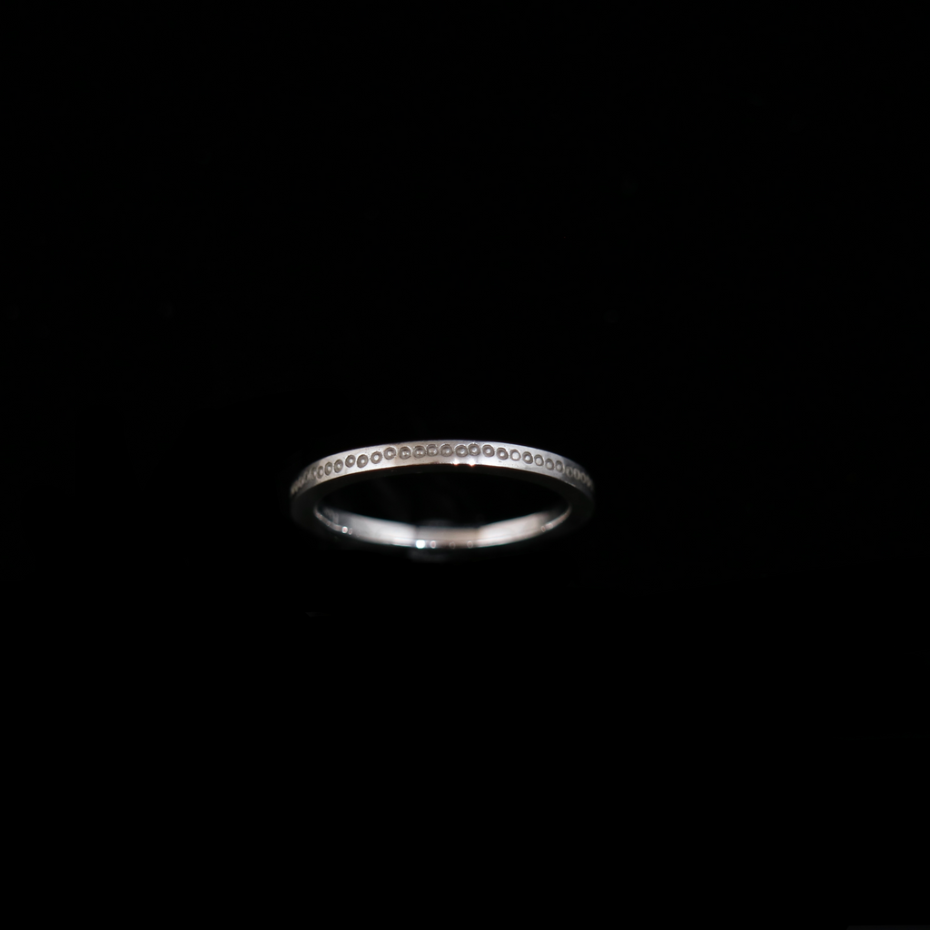 Celts & Kings Ring - Single Band - Thicker Band - White Gold