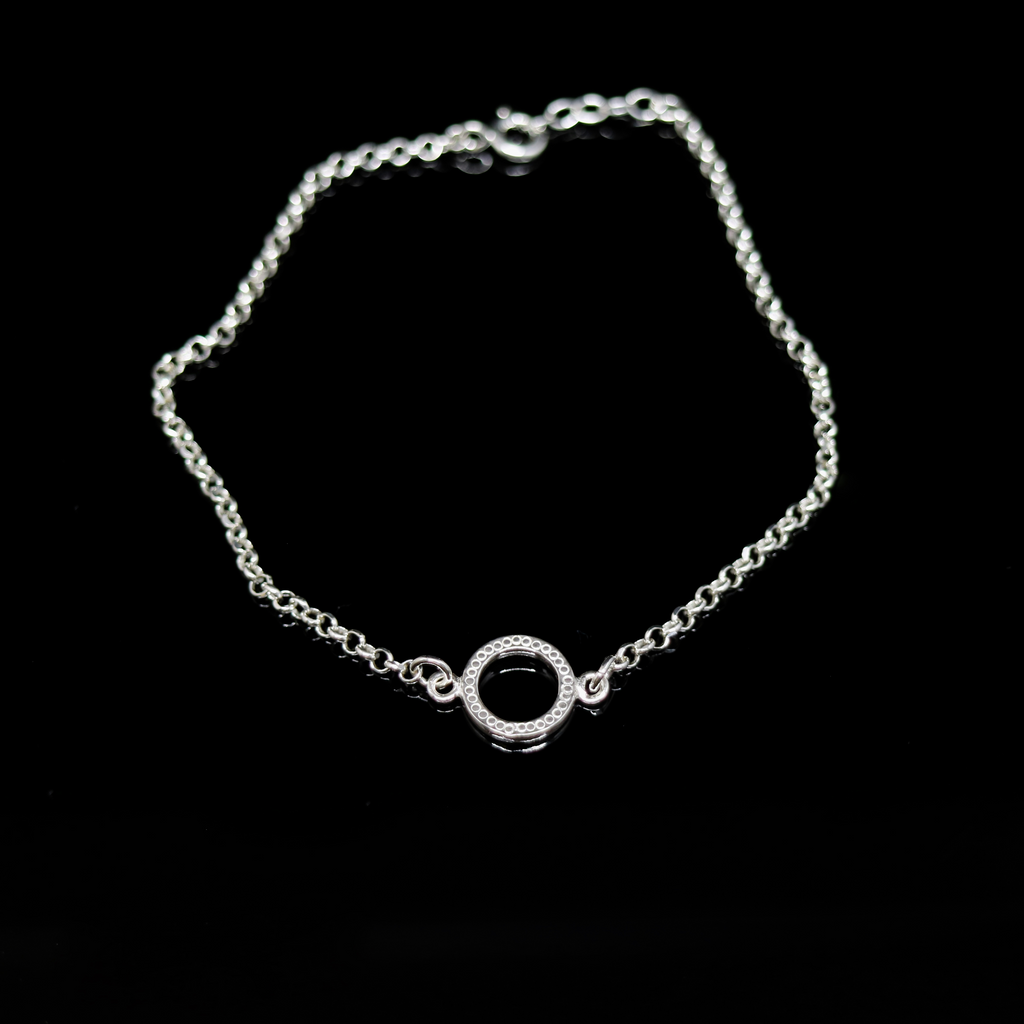 Celts & Kings Bracelet - Pattern Circle - Silver