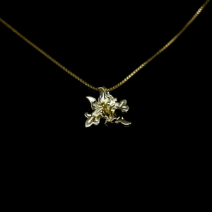 Acanthus Necklace - Large Acanthus Pendant - Gold