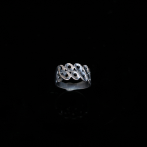 Knitting Ring - Large Stitch - Silver