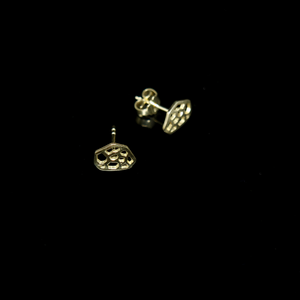 Molecule Earrings - Molecule Pendant - Studs - Gold