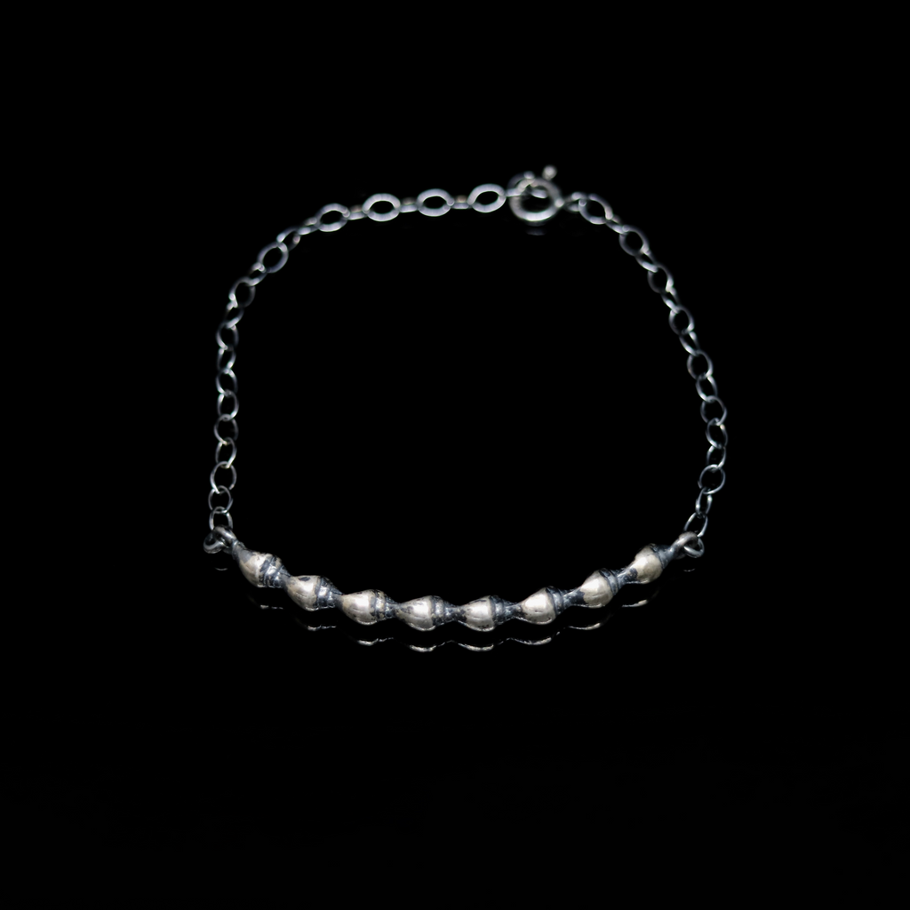 Conches Bracelet - Shell Bar - Silver
