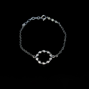 Conches Bracelet - Circle Shells - Silver