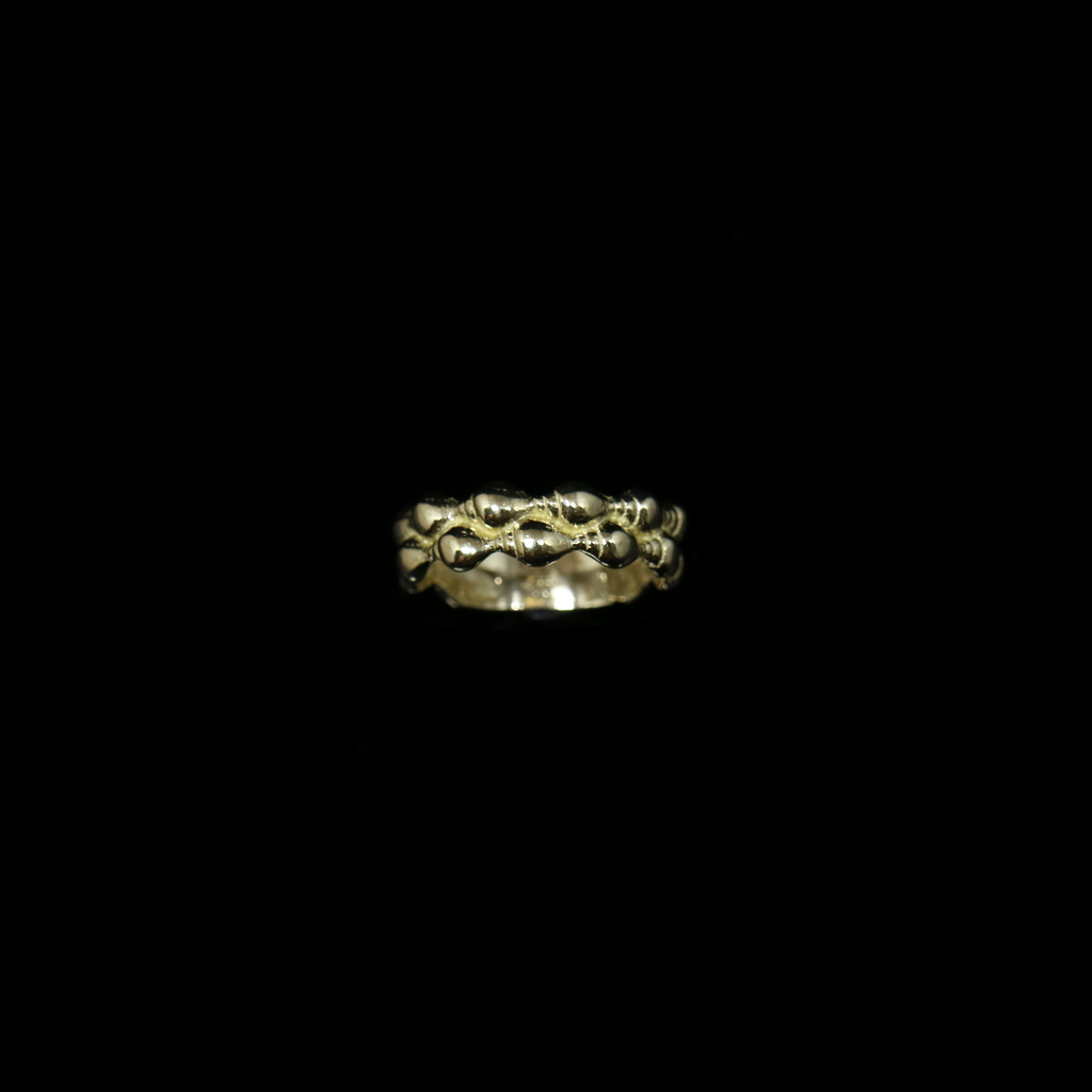 Conches Ring - 2 Rows - Gold