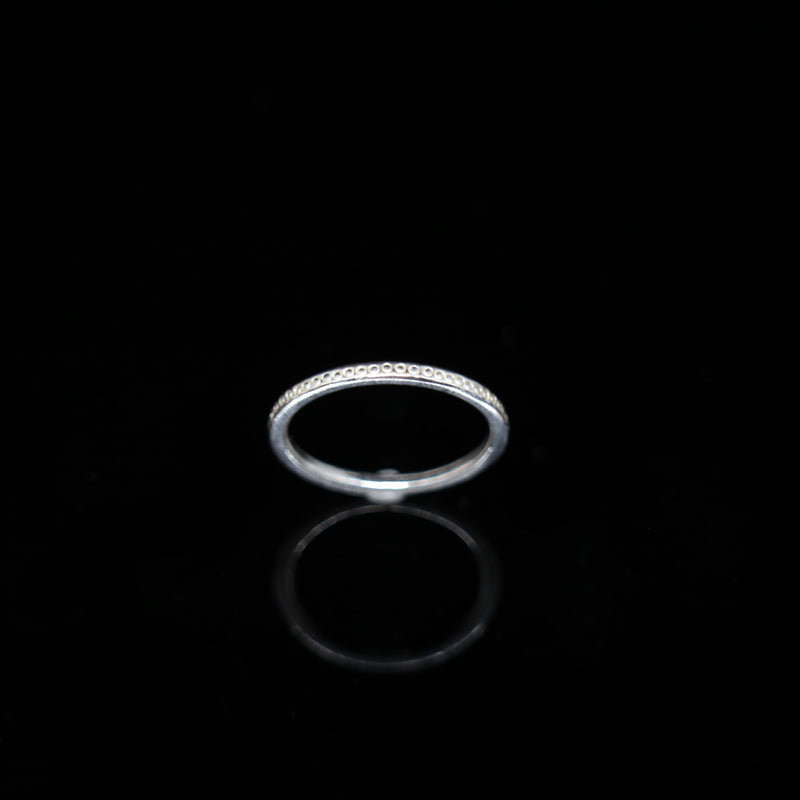 Celts & Kings Ring - 1mm Band - White Gold
