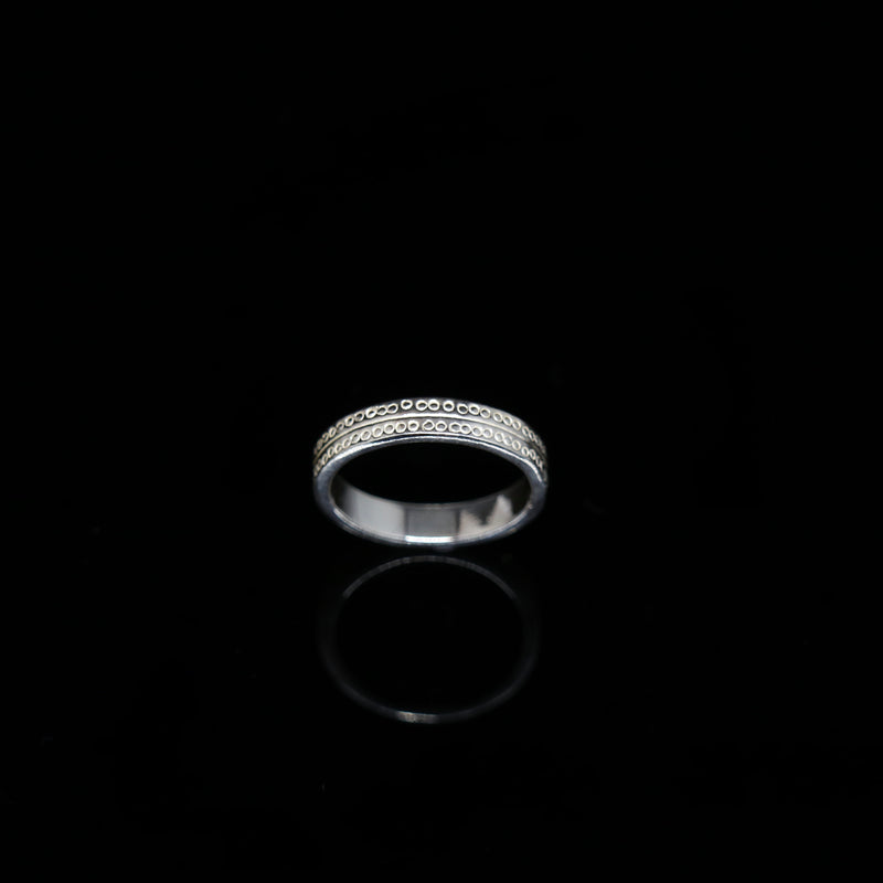 Celts & Kings Ring - Double Band - White Gold