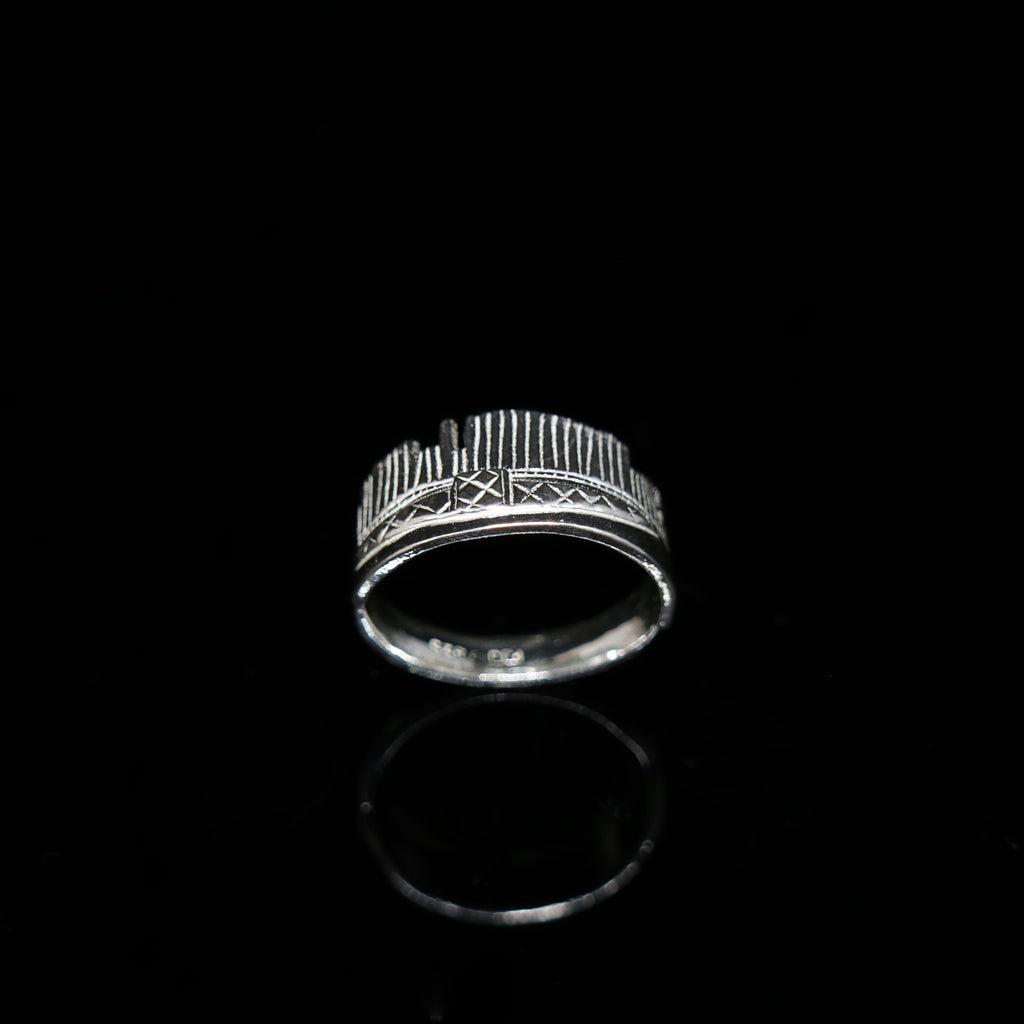 Celts & Kings Ring - Comb - Wider Band - Silver
