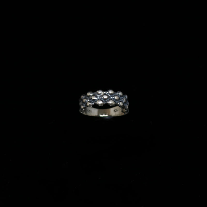 Conches Ring - 3 Rows - Silver