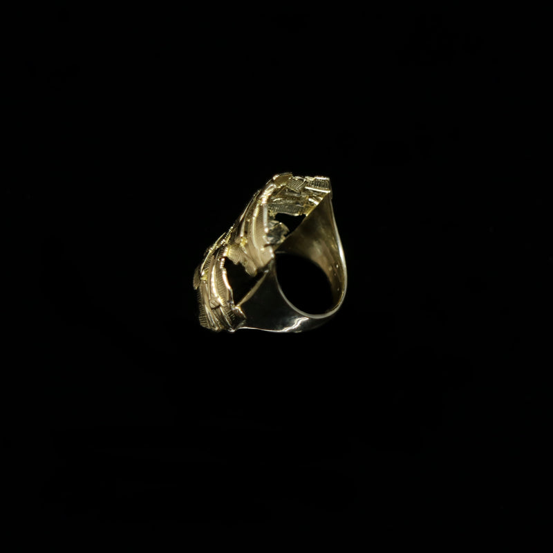Celts & Kings Ring - Comb Cluster - Wider Band - Gold