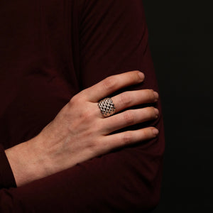 Conches Ring - 7 Rows Concave - Silver