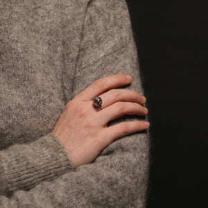 Knitting Ring - Sphere - White Gold