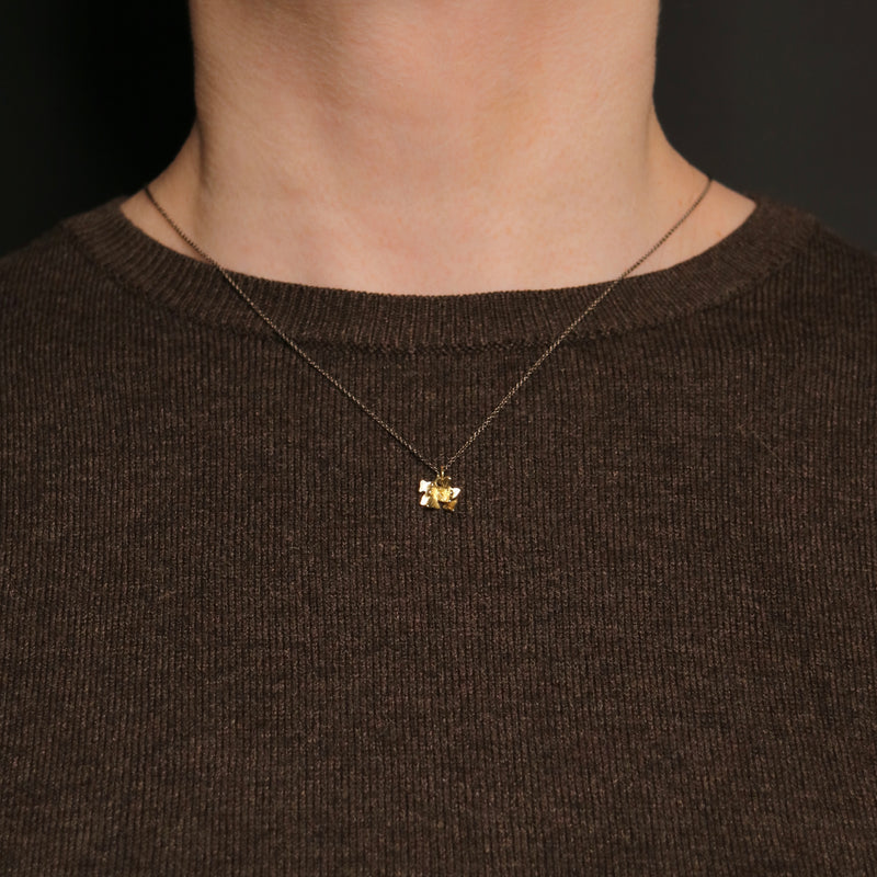 Acanthus Necklace - Small Acanthus Pendant - Gold
