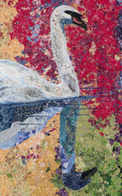 "Load image into Gallery viewer, ""Over Calm Waters""  Textile Quilt 40"" x 32"""