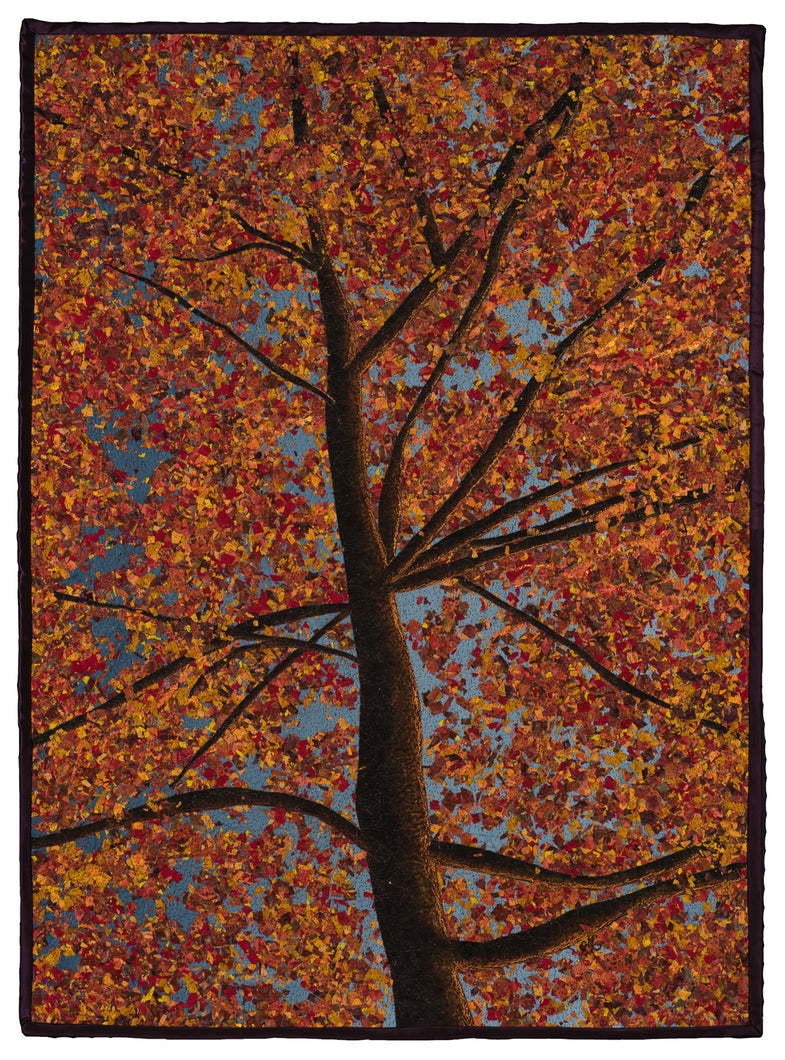 """SunSet Fall"" mixed Media 23"" x 31"""