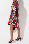Graffiti Printed Shirt Dress