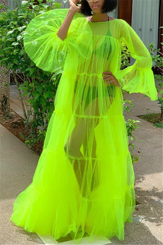 Neon Green Large Fluorescent Dress