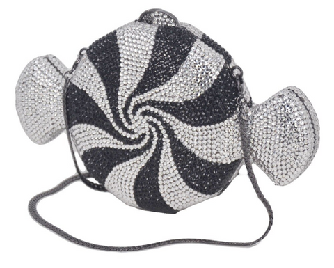 Swirled Licorice Candy Crystal Clutch