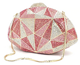 Prismatic Dreams Luxury Crystal Clutch Purse