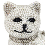 Siberian Cat Crystal Clutch Purse