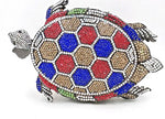 Tony the Turtle Crystal Clutch Purse