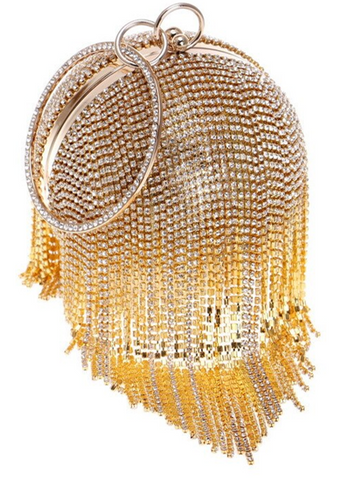 Tassel Diamond Ball Clutch