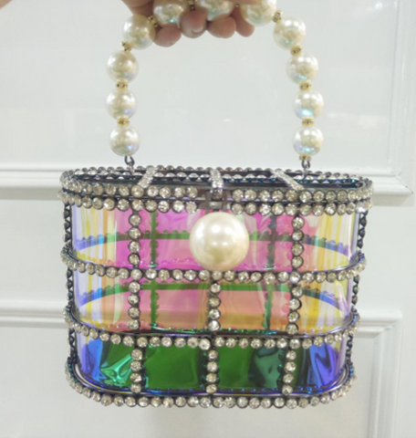Diamond Zoe Cage Purse