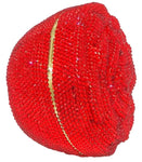 Red Rose Bud Crystal Clutch Purse