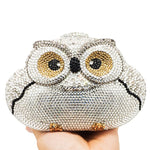 Omniscient Owl Crystal Clutch Purse