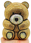 Cuddly Teddy Bear Crystal Clutch Purse