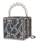 Snakeskin Diamond Box Clutch