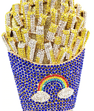 Crystal French Fries Clutch Purse