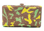 Camouflage Crystal Clutch